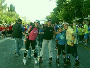Rollers στην πόλη μαζί με την ομάδα του Snowport