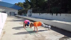 Προαγωνιστική περίοδος με άσκηση για σταθεροποίηση κορμού